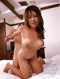 Sensuous japanese dame is covered with cum