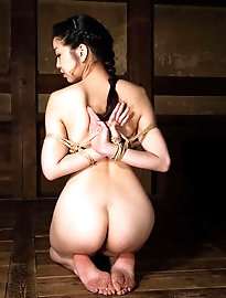 Lascivious oriental prostitute is getting pleasure on pictures